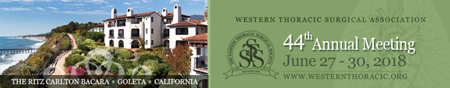 Western Thoracic Surgical Association, 44th Annual Meeting, June 27 – 30, 2018
